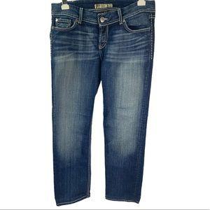 BKE Dark Stonewashed Kate Stretch Straight Jeans